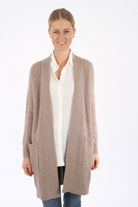 0039 Italy Cardigan LALA new - taupe