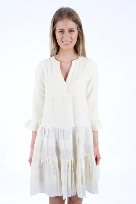 Flowers for friends Pali Tunic Dress - lemon/offwhite