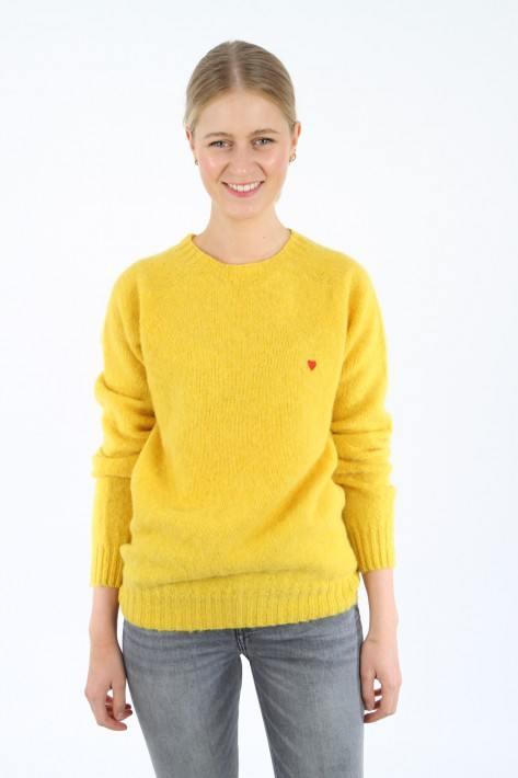 Brosbi The Shaggy Jumper Icon Heart - yellow