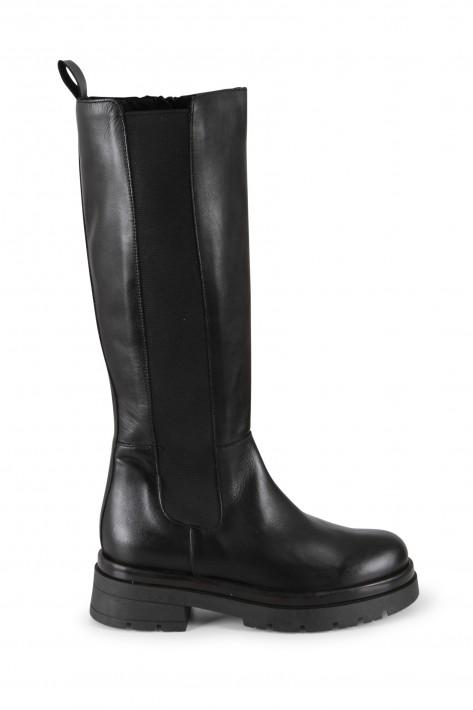 Meline Stiefel Crust Nero - black