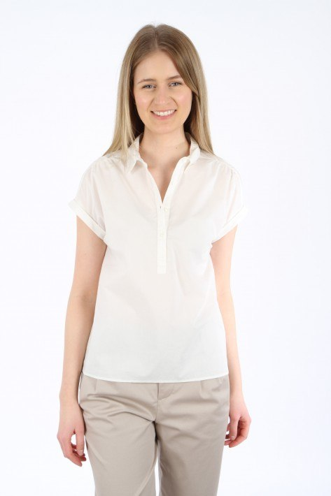 Woolrich Popeline Blouse - offwhite