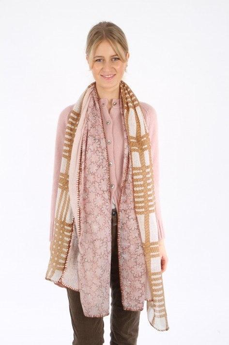 Hemisphere Schal Ernibi - camel/rosa