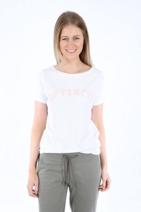 Juvia T-Shirt 'Optimist' - white