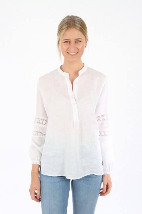 0039 Italy Leinenbluse Janice Eve - white
