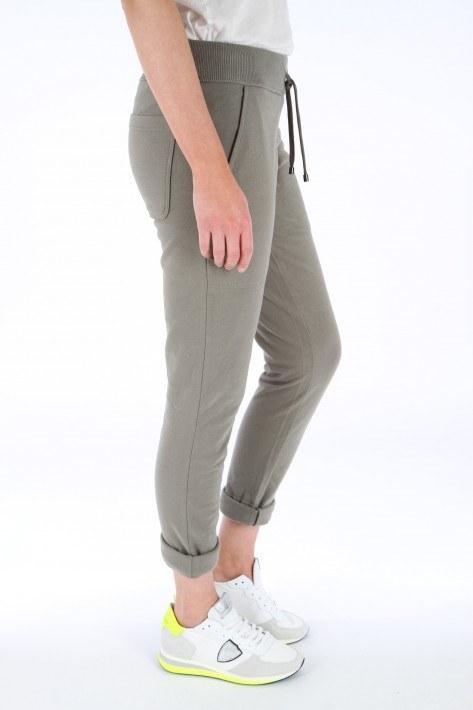 Juvia Fleece Trousers Turn-Up - oak