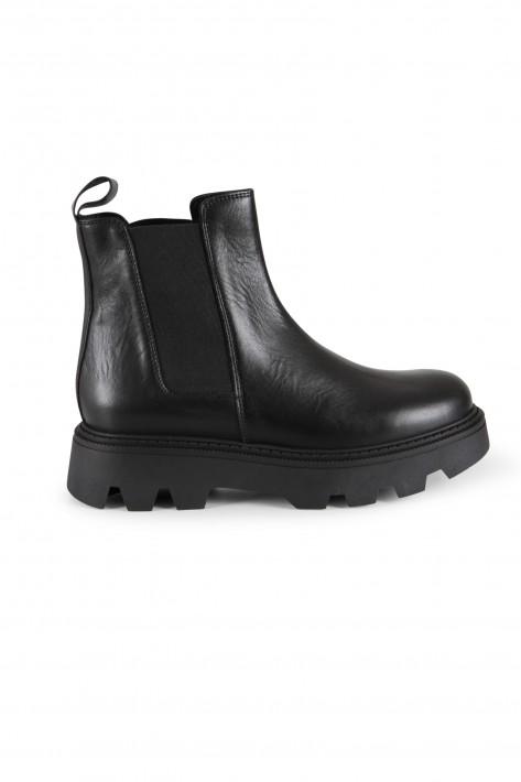 Meline Chelsea Chunky Boots CRUST - nero