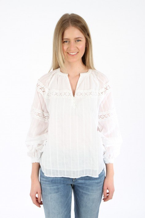 Bloom V-Neck Blouse - white