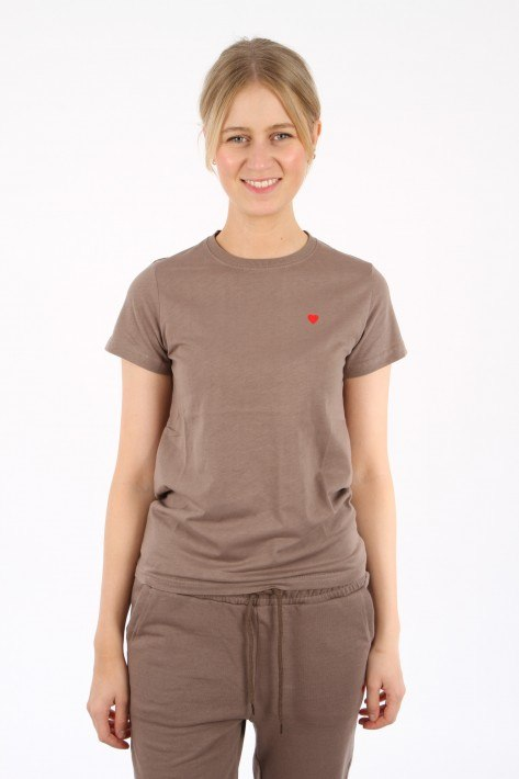 Brosbi The Icon Tee HEART - taupe