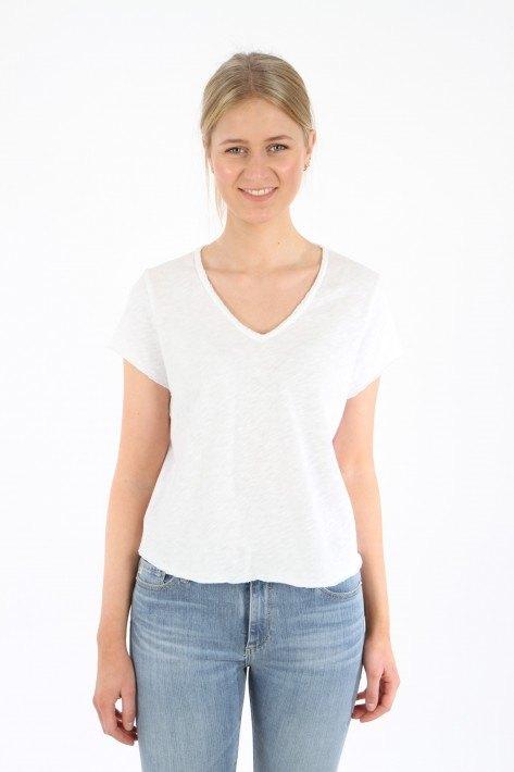 American Vintage V-Shirt Sonoma - white
