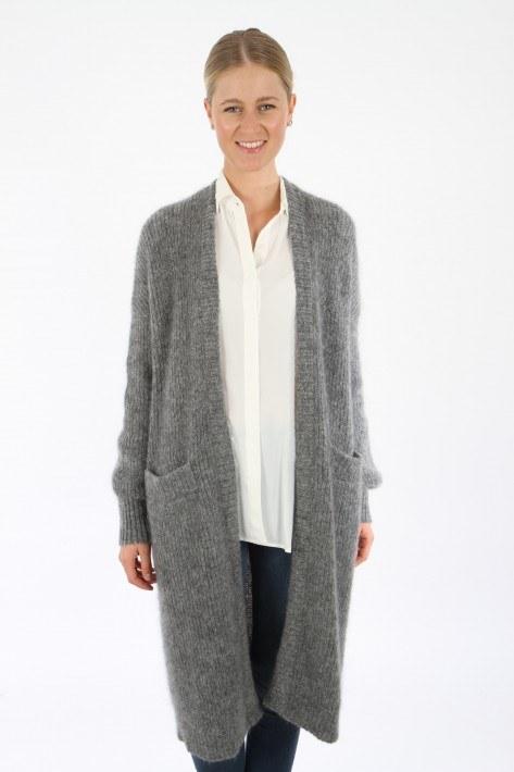 American Vintage Long-Cardigan Rozy - heather grey