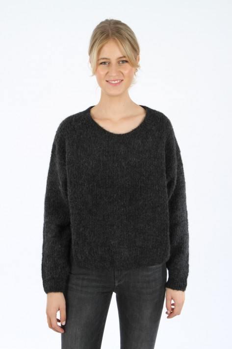 American Vintage Pullover - charcoal melange