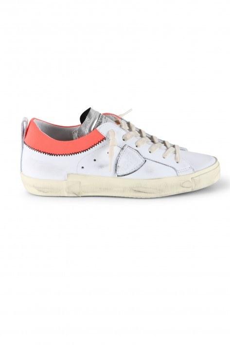 Philippe Model Sneaker PRSX Low - blanc fucsia