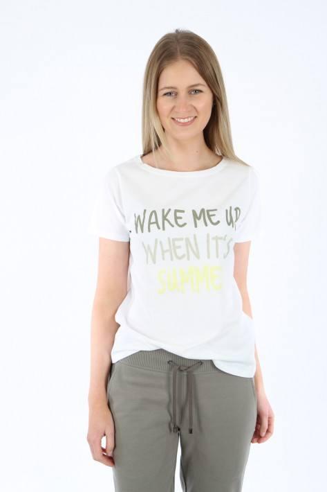 Juvia T-Shirt ' Wake me up' - white