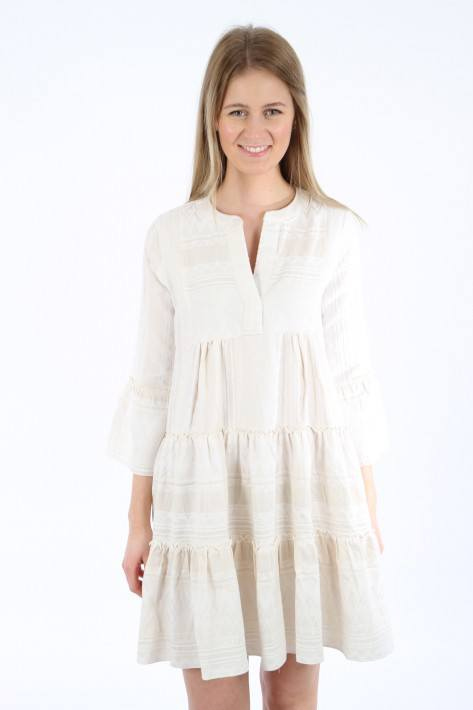 Flowers for friends Ethno Tunic Dress - cream/white